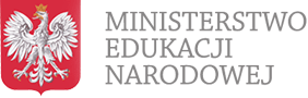 Godło Polski i napis Ministerstwo Edukacji Narodowej - przeniesienie do strony głównej serwisu